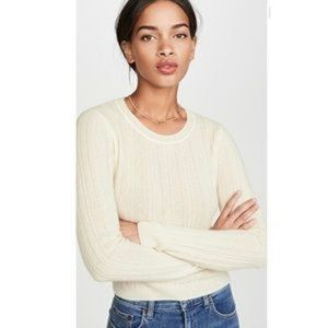 Reformation Jeans Cashmere Crop Crew Neck Sweater